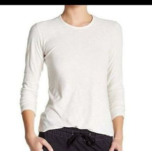 James Perse Tops - James Perse | Long Sleeve White Scoop Neck Tee Sz4